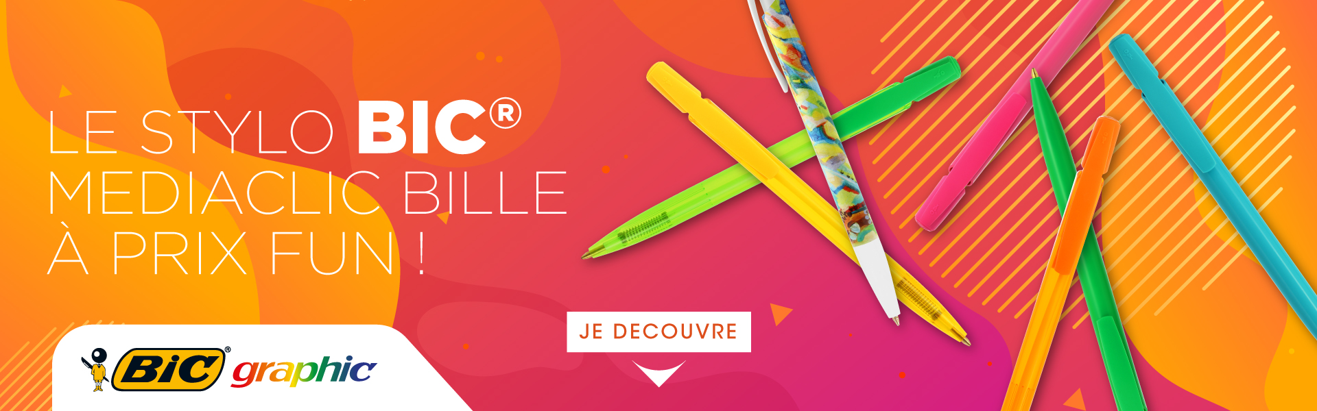 Stylo bic media clic bille